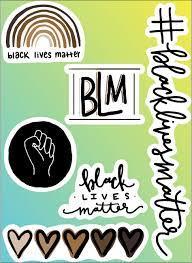 black lives matter sticker pack digital
