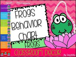 Frog Themed Behavior Chart Frogs Classroom Decor Behavior Chart