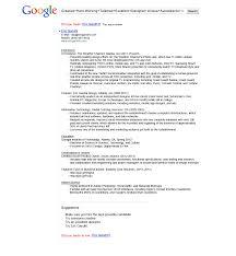 Resume Sample Resume For Google