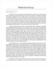 Personal Reflective Essay About Death