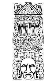 Small Picture Free coloring page coloring adult totem inspiration inca mayan