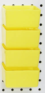 Pegboard storage bins Baskets Peg Board Yellow Plastic Part Bins 10 Pack Hooks To Peg Tool Board Workbench Pinterest Peg Board Yellow Plastic Part Bins 10 Pack Hooks To Peg Tool Board