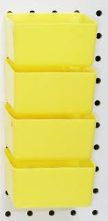 Pegboard storage bins Baskets Peg Board Yellow Plastic Part Bins 10 Pack Hooks To Peg Tool Board Workbench Pinterest Peg Board Yellow Plastic Part Bins 10 Pack Hooks To Peg Tool Board