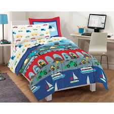 kids comforters com olive trains planes and trucks twin