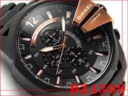 1more rakuten global market diesel chronograph men watch black diesel chronograph men watch black x rose gold dial ip black stainless steel belt dz4309