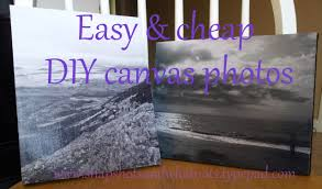 DIY canvas photos {pinterest is saving me a fortune}