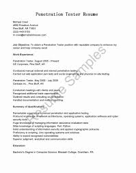 Resume Format For Software Testing Fresher Inspirational Data