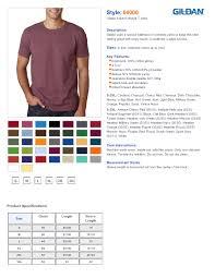 Gildan Shirt Color Chart 2016 Rldm