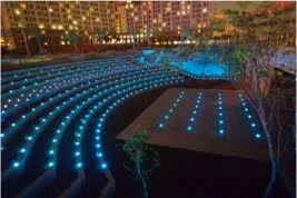 amazing effects with solar led ground lights amazing outdoor lighting