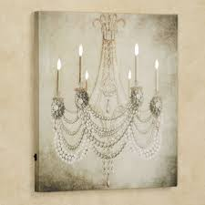 vintage chandelier led lighted canvas art inside trendy chandelier canvas wall art view 11 of