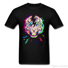 Roar Shirt Size Chart 3d Colorful Tiger Roar T Shirts For Men Psychedelic View Animal Tee Shirt Men Funny Design Forest Wild Tiger Tshirt Summer