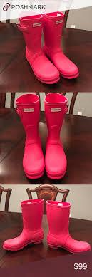 NEW Hunter Original Short Coral Boots Size 8