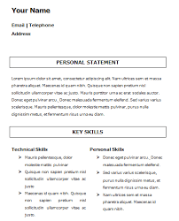 Basic Template For Cv - Fast.lunchrock.co