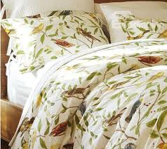 soft country spring birds and flowers print 4 piece cotton duvet cover sets