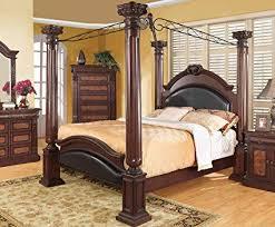 Amazon.com: Coaster Grand Prado 4 Piece California King Canopy ...