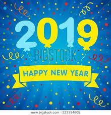 2019 Happy New Year Vector & Photo (Free Trial) | Bigstock