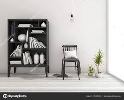 3d Rendering Vintage Minimal Wohnzimmer Mit Regal Dekor Und Schönes