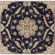 best rated 6 x 6 blue wool wool blend area rugs