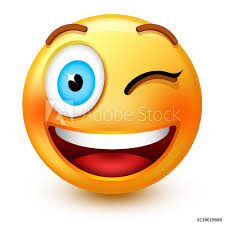 Fotografie Obraz Cute Winking Face Emoticon Or 3d Smiley Emoji With