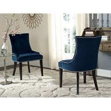 navy blue upholstered dining chairs incredible fabric chair with massive oak home design ideas