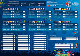 Since the regulations are different, this template gets several adjustments. Free Arsenal Specific Euro 2016 Printable Wallcharts