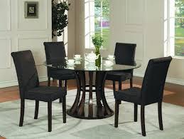 Black Round Kitchen Tables Furniture Unique Round Glass Kitchen Table Set Cool Black Round