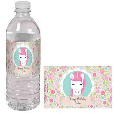 waterbottle labels unicorn personalized water bottle labels shindigz