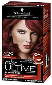 Schwarzkopf Hair Dye Colour Chart Schwarzkopf Color Ultime Hair Color Cream 5 29 Vintage Red Packaging May Vary