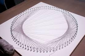 Geometric String Art Patterns Gorgeous Cardioid String Art DIY M O D F R U G A L