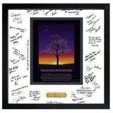 signed retirement gift photo