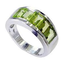 Amazon Com 55carat Natural Peridot Ring For Women