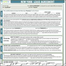 standard rental agreement template nyc lease form omfar mcpgroup co