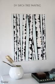 birch tree diy wall art supplies