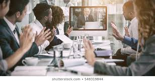 Video Conference Video Conference Out Of Office Images Stock Photos