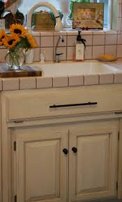 French Linen Chalk Paint Kitchen Cabinets