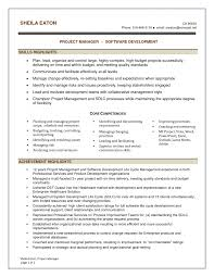 Example Of Project Manager Resume Samples For Core Competencies
