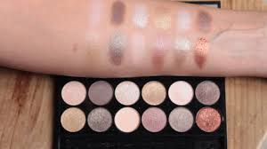 swatches de la palette all night long de sleek make up marion blush