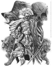 Greek Warrorior тату греческая татуировка спартанское тату и
