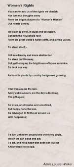 women s rights poem by annie louisa walker poem hunter