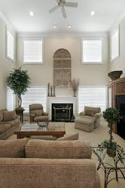 Two Story Living Room Curtains Living Room Long Narrow Fireplace Middle Breathtaking Furniture