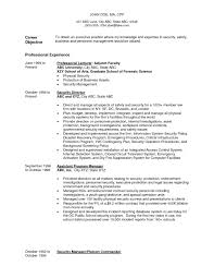 Law Enforcement Resume Objective Examples Examples Of Resumes