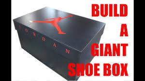 Empty Designer Shoe Boxes For Sale Build A Giant Shoe Box Nike Air Jordan
