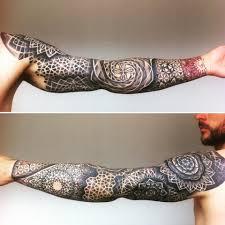 Mens Sacred Geometry Tattoo By Anna Day Sleeve Tattoo Tatuaje