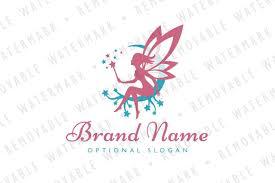 Fairy Logo Design Magical Fairy Logo Business Card Design Logos Design Logos