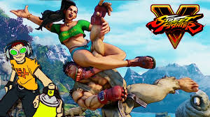 watch us play street fighter 5 jet set radio hd laser time