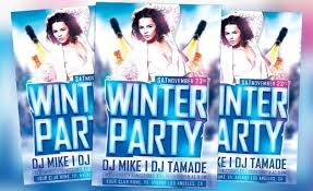 Dowload Free Flyer: Winter Bash Free Psd Flyer Template For Photoshop