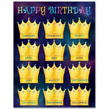 Mystical Magical Happy Birthday Chart Birthday Charts