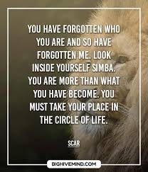 From Musafa To Scar Over 40 Of The Best Lion King Quotes Big Gorgeous King Quotes