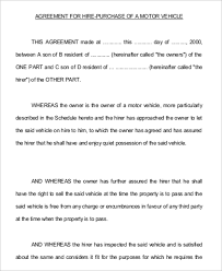 Purchasing Contracts Templates Vehicle Purchase Agreement Sample 12 Examples In Word Pdf