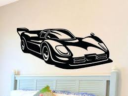 car wall decals race car wall decal boys bedroom wall decor man cave wall sticker removable car wall decals